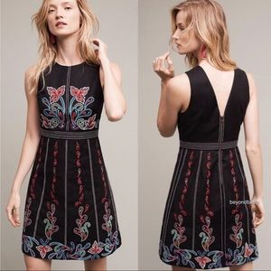 Anthropologie Maeve Chennai Embroidered Dress